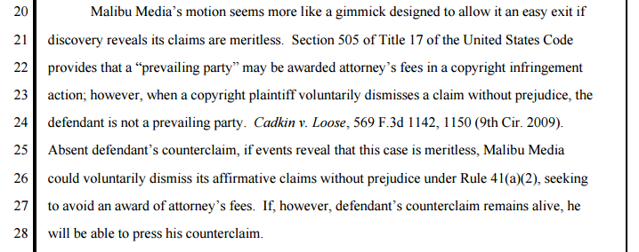 (Judge Alsup denying dismissal of Def's counter-claim)