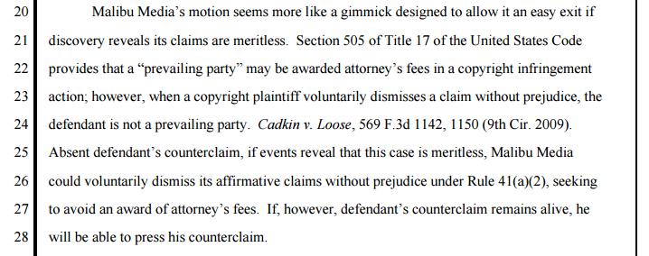 (Judge Alsup denying dismissal of Def's counter-claim)